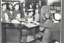 Royal Infirmary of Edinburgh Nurses at the mail room, LHSA Photographic Collection